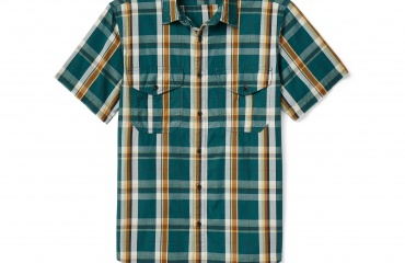 FILSON Washed Short Sleeve Feather cloth shirt
